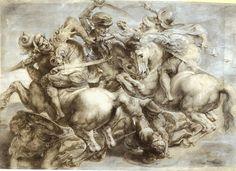 "Detail from a copy of Leonardo da Vinci's long-lost ""Battle of Anghiari,"