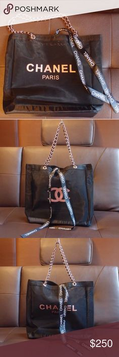 CHANEL VIP GIFT - Meshed Tote Bag 100% Authentic Chanel Beaute Mesh Chain  Bag, ab7725eacf