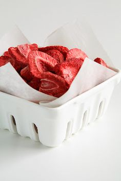 Pink Cakes and Freeze-Dried Strawberries