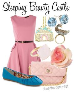 Sleeping Beauty Castle themed outfit. I'd love to visit Disneyland wearing this.