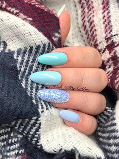 Nails by Ann  Don't Worry, Beach Happy  Florida Dreams Kopciuszek Call Me a Unicorn  #nails #nail #indigo #indigonails #nailsart #cindarella #pastel #mint #summernails #springnails #miami #gelpolish #pastelnails #effectnails #pixelnails