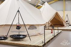 Showroom by SoulPad Cotton Canvas Bell Tents, via Flickr