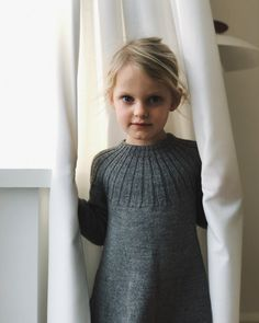 Harald's Dress child's knitted dress knitting pattern by petite knit scandi style knits Girls Knitted Dress, Knit Dress, Knitting For Kids, Baby Knitting Patterns, Elastic Thread, Baby Sweaters, Crochet, Dresses, Scandi Style