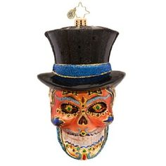 Radko MR DEAD Day of the SUGAR SKULL ornament NEW 2014 halloween