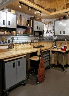 Wood Carver's workshop - traditional - garage and shed - dallas - RSVP Design Services