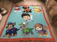 Resultado de imagen para paw print crochet afghan pattern free