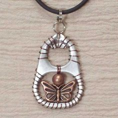 Jewelry made from soda-pop tabs   Recycling can be Beautiful     Earings  Earing 2  Earing 3  Pendants  Pe...