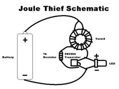 Yes, it's the infamous Joule Thief, in Instructable form! For those of you who don't know, the Joule Thief is a tiny little circuit that allows you to drive. Electronic Circuit Projects, Arduino Projects, Electronics Projects, Joule Thief, Electronic Schematics, Old Computers, Science Fair Projects, Joules, Pictures