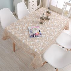 Luxury embroidery lace dinner table cloth, wedding round clover trimming table cover, home decor table runner (LR181040). Yesterday's price: US $12.99 (10.67 EUR). Today's price: US $10.97 (9.59 EUR). Discount: 39%.