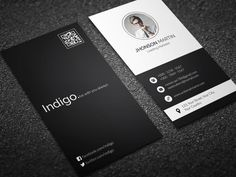 Minimal Vertical Business Card by remon92