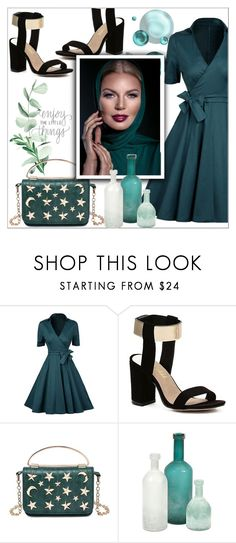 """Vintage derss"" by mujkic-merima ❤ liked on Polyvore featuring Home Decorators Collection, vintage and rosegal"