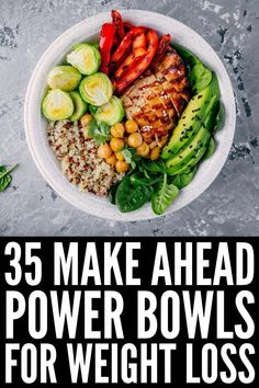 Quinoa Power Bowl Recipe, Lunch Bowl Recipe, Quinoa Bowl, Pot Recipe, Protein Dinner, Protein Lunch, Le Diner, Food Bowl, Healthy Meal Prep