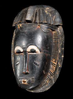 Baule MASK Ivory Coast. H 27 cm