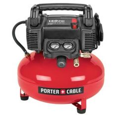 PORTER-CABLE Single Stage Portable Electric Pancake Air Compressor at Lowe's. Our 150 psi Oil-Free Pancake Compressor is constructed with a pancake style tank for stability, with a water drain valve and tough rubber feet. Porter Cable Air Compressor, Diy Barn Door Plans, Electric Air Compressor, Sawdust Girl, Sliding Barn Door Hardware, Barn Doors, Door Hinges, Sliding Doors, Nail Gun