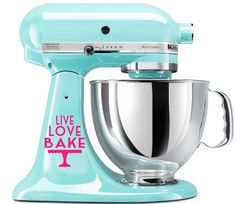 Live Love Bake KitchenAid Mixer Decal, Kitchen Aid Decal