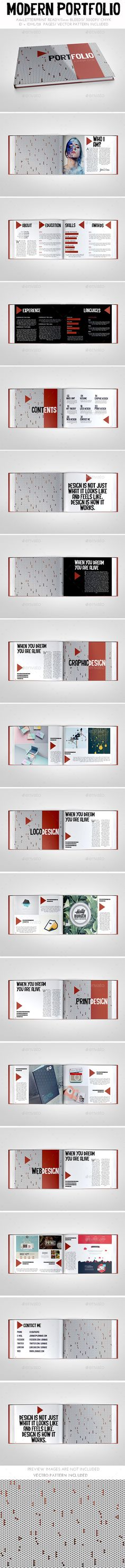 Buy Modern Portfolio Brochure by on GraphicRiver. In-design + Idml or lower Beautiful abstract printable brochure. You can use it as a brochure or your person. Portfolio Design, Portfolio Resume, Portfolio Book, Portfolio Layout, Personal Portfolio, Template Portfolio, Handout Design, Design Thinking, Photoshop