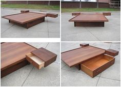 Listed District: Still Listed - Mid Century Platform Bed