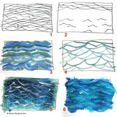 How to Paint Ripples in the Ocean