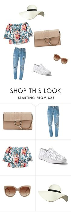 """spring outfit"" by leeli5a88 on Polyvore featuring Chloé, Levi's, Elizabeth and James, Steve Madden, STELLA McCARTNEY and Pilot"
