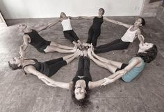 great idea for kids #yoga class~a happy #yoga circle! :)