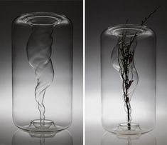A+A Cooren  was founded in Paris by a French-Japanese designer/couple, Aki and Arnaud Cooren in 1999. Their studio is multidisciplinary, including lighting design, product, furniture and interior design. One of their most recent projects is the Tourbillon (vortex) vase. It looks like a tornado of water suspended in time.    The vase is the results of a harmonious meeting between computer technology and French high quality craftsmanship. Available in 3 sizes, the vase is composed of two parts…