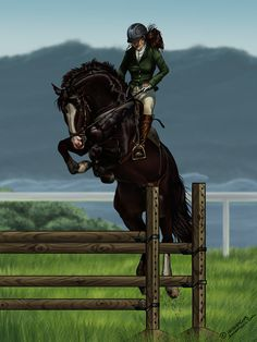 Taking thunder over some jumps Cute Horses, Pretty Horses, Beautiful Horses, Horse Drawings, Animal Drawings, Arte Equina, Star Stable Horses, Disney Horses, Horse Animation