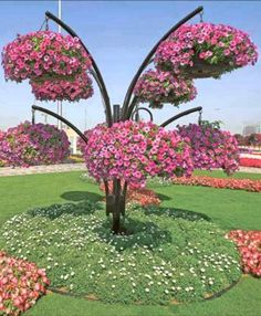 The Most Beautiful and Largest Flower Garden in the World is Dubai Miracle Garden. Garden Art, Small Front Yard Landscaping, Miracle Garden, Diy Garden, Garden Design, Plants, Beautiful Flowers Garden, Front Yard Garden Design, Beautiful Flowers