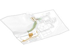 Image 1 of 31 from gallery of Villers Abbey Visitor Center / Binario Architectes. Photograph by François Lichtle Mini Clubman, Axonometric View, National Road, Corten Steel, Dezeen, Architecture, Concept, How To Plan, Gallery