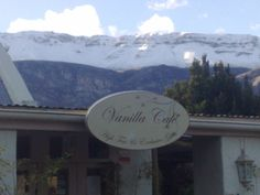 Vanilla Cafe - Greyton - how can a cappuccino NOT be enjoyed with such views of the Riviersonderend mountain Botha street, Greyton 028 254 9453 Water Systems, Nature Reserve, Mountain Range, Cape Town, Vanilla, Lifestyle, Street, Outdoor, Outdoors