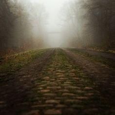 Gate to Hell… #fog #cobbles #pavé #parisroubaix #pavécyclingclassics #arenberg #bridge  alexvoisine, instagram.com  R O U B A I X T H E P A V É I S C O M I N G