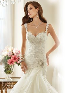 sophia tolli wedding dress 2015 lark closeup