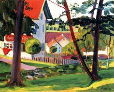 In Lindenburg by Gabrielle Münter - 1908