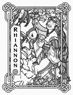 Rhiannon - Welsh Goddess of Healing and Transformation  © 2010 Renée Christine Yates-McElwee
