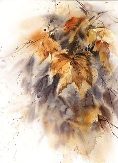Buy Autumn Maple Leaves, Watercolor by Sophie Rodionov on Artfinder. Discover thousands of other original paintings, prints, sculptures and photography from independent artists. Watercolor Print, Watercolour Painting, Painting Art, Watercolor Leaves, Botanical Wall Art, Leaf Art, Maple Leaves, Tree Leaves, Art Reproductions