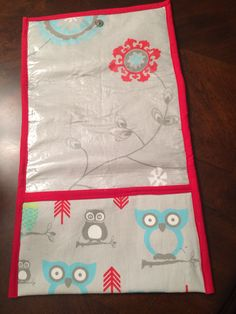 Changing pad for granddaughter Amelia