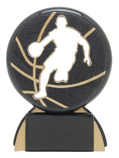 Male Basketball Trophy - Shadow Resin - Multiple Sizes
