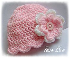 Baby Flower Hat, Baby Girl Hat, Flower Beanie, Photo Prop, Baby Girl Gift, Baby Shower Gift, Large Flower Hat, Pretty Baby Hat Baby Girl Crochet, Crochet Baby Hats, Baby Girl Hats, Girl With Hat, Hat Flower, Girl Gifts, Baby Gifts, Spring Hats, Cute Hats