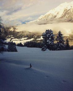 #schneeschuhwandern im #tiefschnee  Genial!