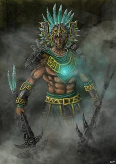 Aztec cog warrior by Meewtoo on DeviantArt