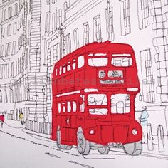 Machine Embroidery Design London City Landscape