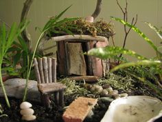 fairy camp...lots of things to make for fairy gardens