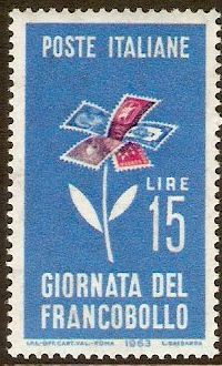 Italy 1963 Stamp Day Stamp.