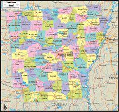 Arkansas county by county Little Rock AR Pinterest Road
