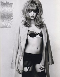 Bouffant 1960s, mod 60s hairstyle, editorial fashion,Vogue UK 2005