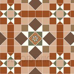 Victorian style floor tiles.