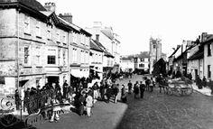 Market in Fore Street Okehampton, 1890