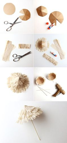 DIY craft - Beach grass umbrella