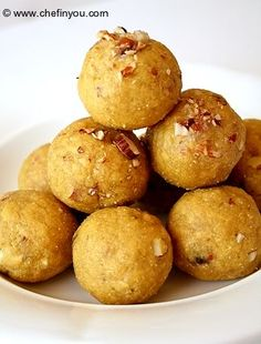 """A Ladoo recipe I would like to try. Ladoos are featured in the film """"English Vinglish"""" which is playing at the Crossroads International Film Festival in Corvallis, Oregon on Feburary 2 and 9."""