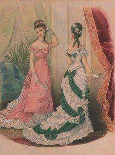 La Mode Illustrée, 1876 Отделка лифа