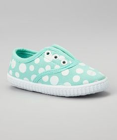 This Ositos Shoes Apple Green & White Polka Dot Slip-On Sneaker by Ositos Shoes is perfect! #zulilyfinds